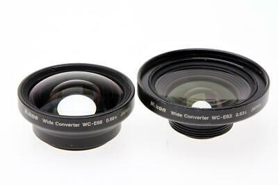 Nikon WC-E63 0.63x Wide Angle and  WC-E68 Wide Converter Lens for Coolpix