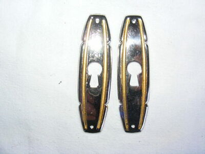 Pair of'entries lock 8 x 2,2 cm for furniture years 1930 /1950 No.5