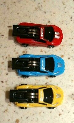 Whistling blowing flying car set of 3 retro novelty toy