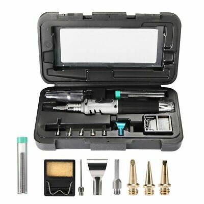 Auto Ignition Butane Gas Soldering Iron Kit In Case Self Ignite Welding Torch LS