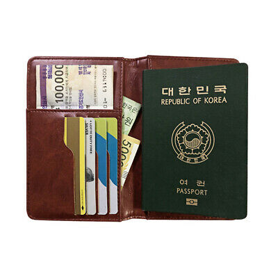 Travel Passport Holder Card Case Slim Leather Cover Credit Organizer Protector