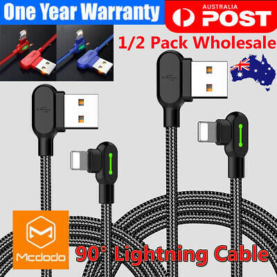 MCDODO Elbow Lightning Cable For iPhone Xs 8 7 6Plus iPad USB Charging Cord Data