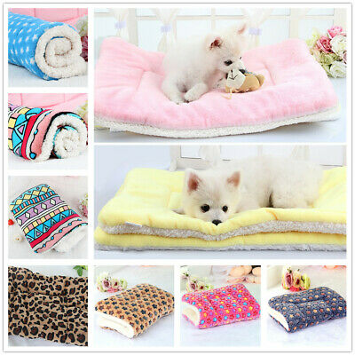 AU Washable Pet Thick Blanket Dog Cat Puppy Bed Cushion Mattress Kennel Soft Mat