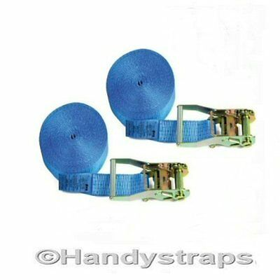 Ratchet Straps Tie Down 2 x 5m x 25mm ENDLESS 1.5 tons Lashing Handy Straps
