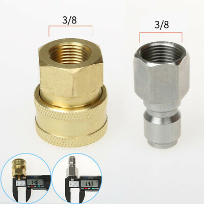 Replacement Pressure Washer Quick Release 3 /8 Brass Male Head HP Coupling G3/8