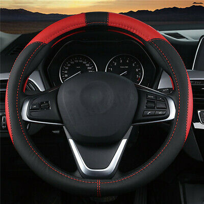 38cm Auto Car Steering Wheel Cover Carbon Pattern with PU Leather Car Cover