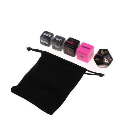 4Pcs Sex Game Love Dice in a Bag for Adults Bachelors Romance Erotic Night