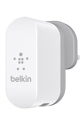 Official Belkin Dual USB Port AC Wall Charger 2 x 2.1amp - UK Plug