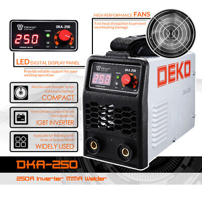 DEKO 220V 200/250A IGBT Inverter AC Arc Welding Machine
