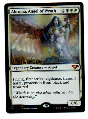 1 FOIL Akroma White Timeshifted Time Spiral Mtg Magic Rare 1x Angel of Wrath
