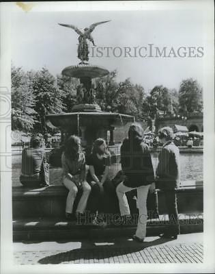 1978 Press Photo Bethesda Fountain in New York City's Central Park - mja74723