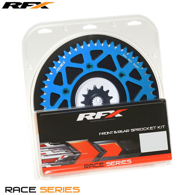 RFX Front & Rear Aluminium Blue Sprocket Kit 13/50 Teeth TM 250MX FI 11-16
