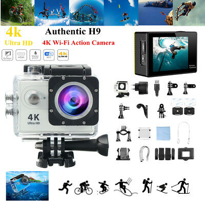 Authentic H9 4K Ultra 170° 1080P WiFi 2.0''Sport Action Caméra Caméscope DV 30M