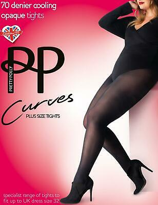 Pretty Polly Curves 70 Denier Cooling Tights Plus Sizem Opaque Hosiery