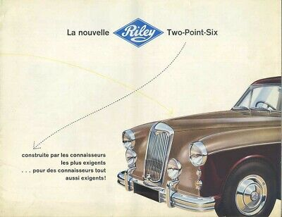 Brochure Depliant Riley Two Point Six Prospekt (N35)