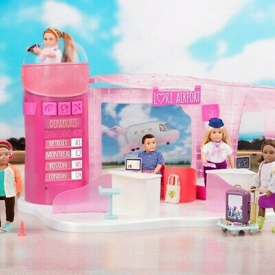 "NEW Lori Dolls Jetset Airways Airport Playset for 6"" Dolls"