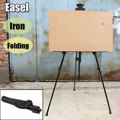 Solid Metal Artist Folding Painting Easel Tripod  Stand W/ Bag Adjustable