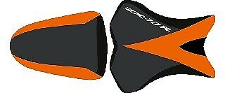Bagster Seat Cover Black/Orange White Letters Kawasaki ZX10-R 2008-2009