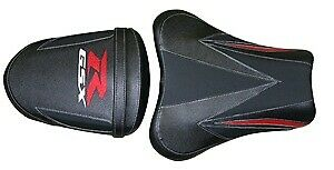 Bagster Seat Cover Black/Mat Black/Red/Red Letters Suzuki GSX-R1000 2007-2008
