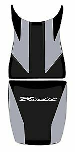 Bagster Seat Cover Steel Grey/Black White Letters Suzuki GSF650 Bandit 2009-2011
