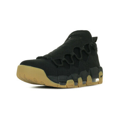 Chaussures Baskets Nike homme Air More Money taille Noir Noire Cuir Lacets