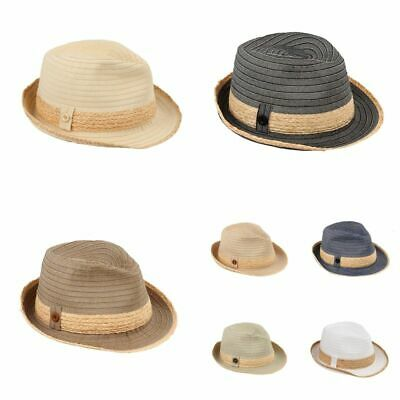 eb5ba370 Sun Styles Foldable Crushable Havana Ladies Packable Trilby Fedora Hat
