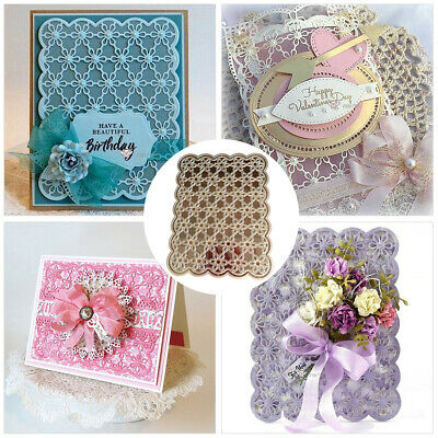 Cutting Dies Lace Background Metal DIY Scrapbooking Borders Frame Craft Stencils