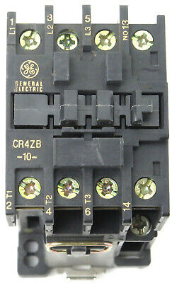 GE Contactor Type CR4ZC, CR4ZB Coil Voltage 24VDC, 48VDC, 125VDC
