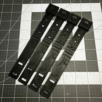 4 Piece Lot Tactical Taylor Black Short Malice Clips Field Gear MOLLE