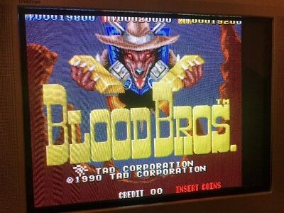 Blood Bros , Jamma Pcb Original Tad, Working 100%