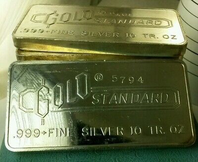 Engelhard Gold Standard 10 OZ Silver Bar Serial # Lowest prices
