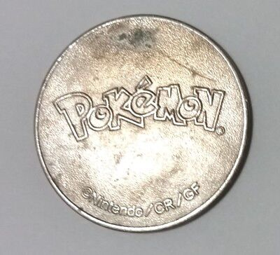 30mm large POKEMON metal token NINTENDO CR/GF