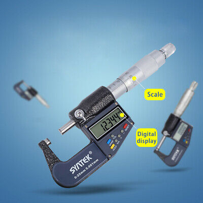 1-inch - 2-inch /25mm-50mm Digital Outside Micrometer Electronic LCD Display