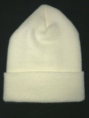a8a68f8c3450e womens cream color BEANIE STRETCH WINTER HAT one size fits most SUPER  CONDITION