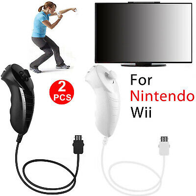 2-pack Nunchuk Nunchuck Controller Remote for Nintendo Wii Wii U Game Console