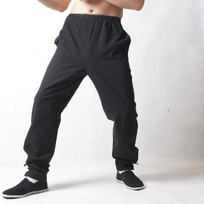 Chic Mens Cross Pants Chinese Japanese Kung Fu Tai Ji Casual Trousers Tang Suits