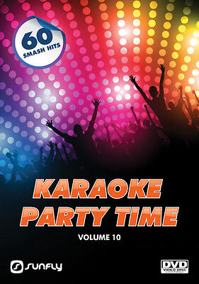 Party Time Vol 10  Sunfly Karaoke Dvd - 60 Hit Songs