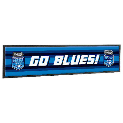 New South Wales State of Origin NRL GO Blues Design Bar Runner