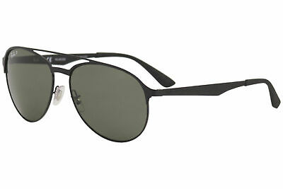 d3dc0b09dad Ray Ban RB3606 RB 3606 186 9A Matte Black Green RayBan Polarized Sunglasses