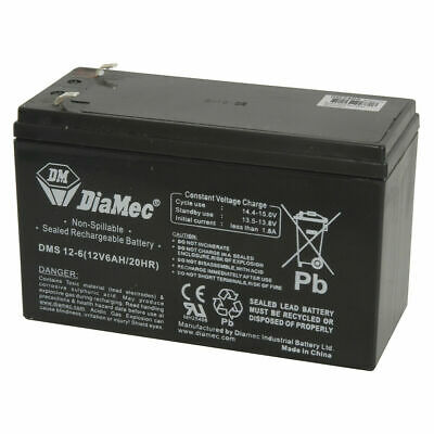 12V 6Ah SLA Battery Sealed Lead Acid Rechargeable