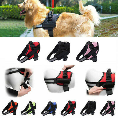 S-XXL Dog HARNESS STRONG ADJUSTABLE & REFLECTIVE DOG PUPPY HARNESSES