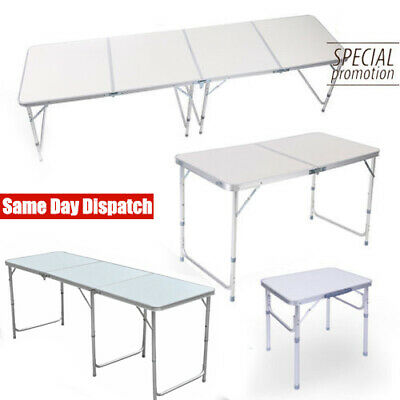 2/4/6FT Folding Table Picnic Camping BBQ Party Banquet Market Garden Portable UK