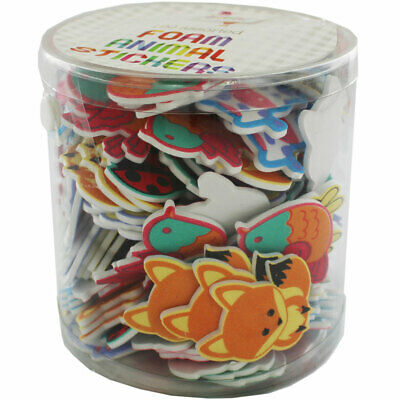 Foam Animal Stickers Tub - 190 Assorted Stickers, Crafts for Kids, Brand New