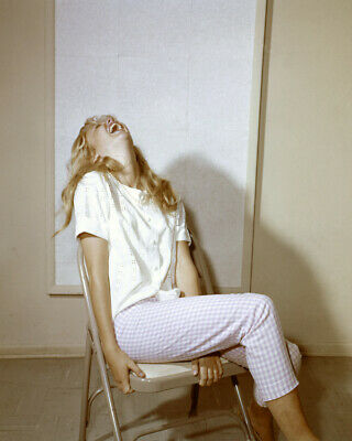 Hayley Mills laughing with her head backwards candid 8x10 Photo