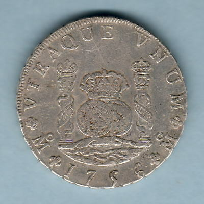 Mexico. 1756-MM 8 Reales - Pillar Dollar..  aVF