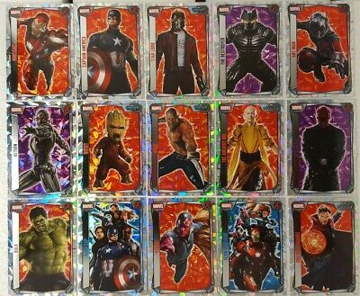 MARVEL MISSIONS  HERO ATTAX  2017 Trading Card SUPER HOLOFOIL Set of 16
