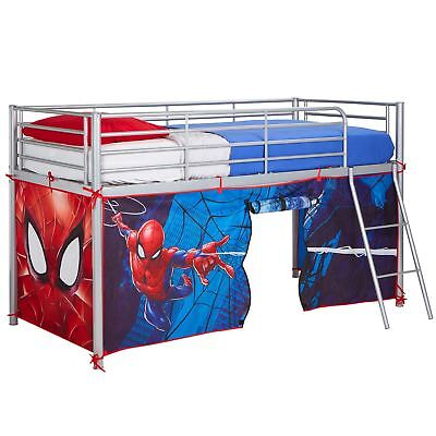 Marvel Spiderman Mid-Sleeper Bed Tent Play Childrens Superhero