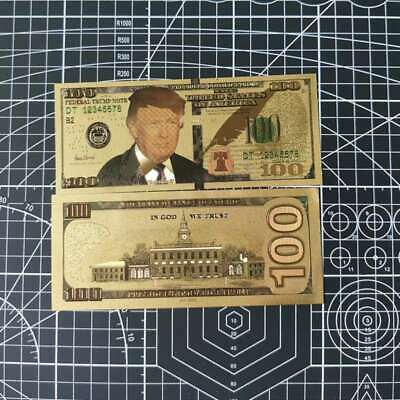 10pcs US Donald Trump Commemorative Coin President Banknote Non-currency $100