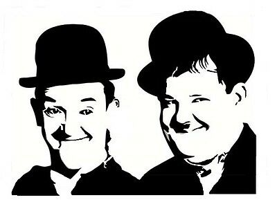 high detail airbrush stencil laurel hardy FREE UK POSTAGE