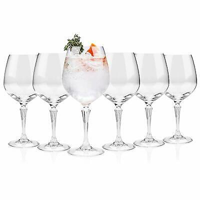 Set Of 6 Wine Gin And Tonic Juice Water Balloon Glass Cocktail Goblet Glasses